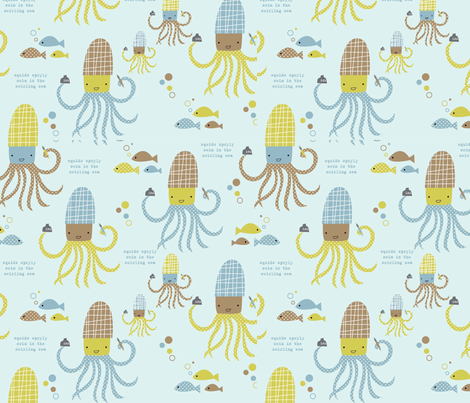 squidoo fabric by amel24 on Spoonflower - custom fabric