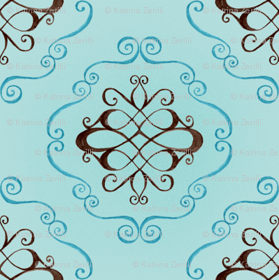 Marie - flourish and swirl