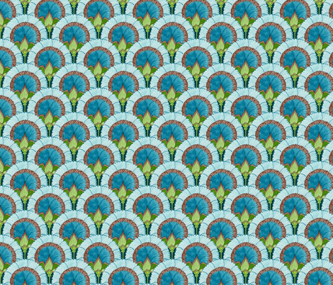 Marie - scallops fabric by katrinazerilli on Spoonflower - custom fabric