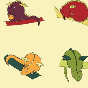 Dragon Squares (yellow background)