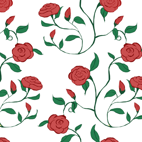Mothers Day Roses fabric by pond_ripple on Spoonflower - custom fabric
