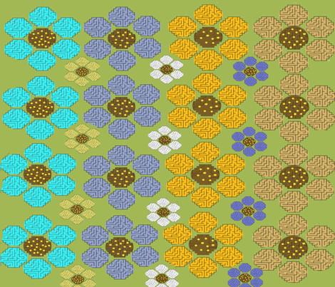 aMazing Flowers fabric by createdgift on Spoonflower - custom fabric