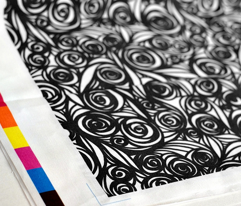 Repeating Abstract Black and White Roses