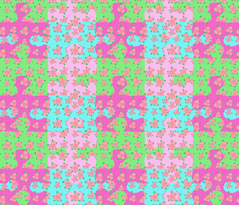 A rose puzzle fabric by rosapomposa on Spoonflower - custom fabric