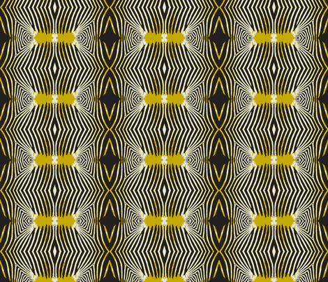 Optical Zebra fabric by susaninparis on Spoonflower - custom fabric