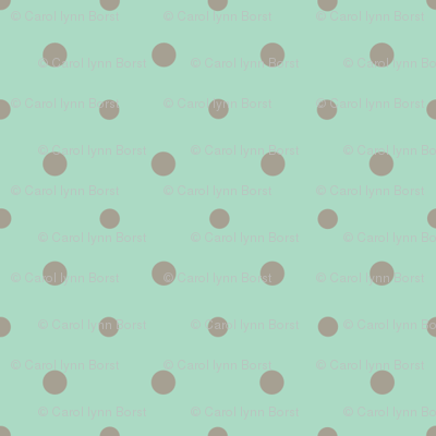 Gray Dots on Green