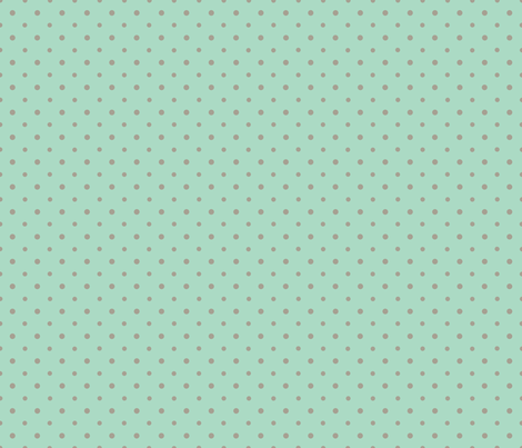 Gray Dots on Green fabric by can-do-girl-fabric on Spoonflower - custom fabric