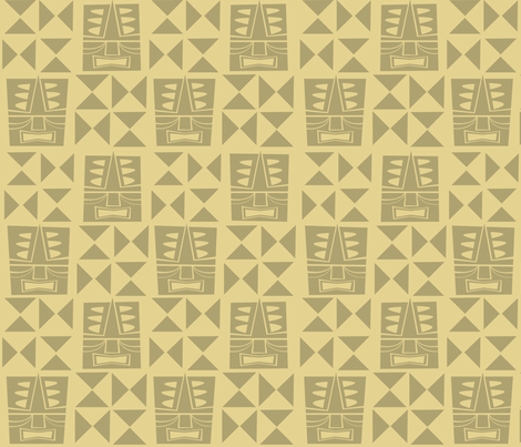 tikitiki fabric by burchworks on Spoonflower - custom fabric