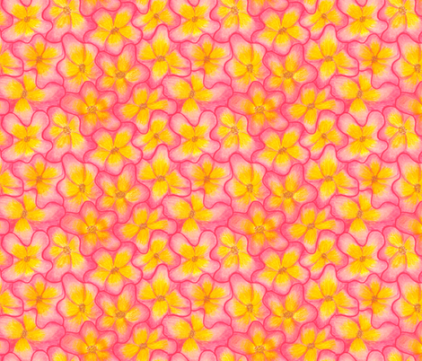 Interlocking_Flowers fabric by beebumble on Spoonflower - custom fabric