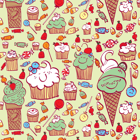 Lotsa Sweets fabric by sheena_hisiro on Spoonflower - custom fabric
