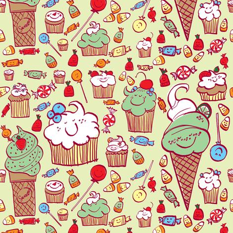 Lotsa Sweets fabric by sheena_hisiro on Spoonflower - custom fabric