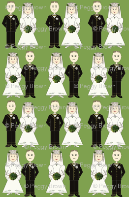 bride & groom in a row-green 94 148 56