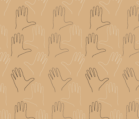 One Hand (Large Scale) fabric by david_kent_collections on Spoonflower - custom fabric