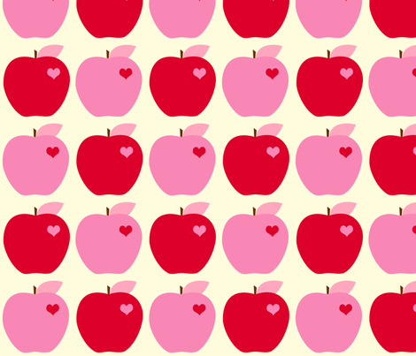 Red Apples fabric by anikabee on Spoonflower - custom fabric