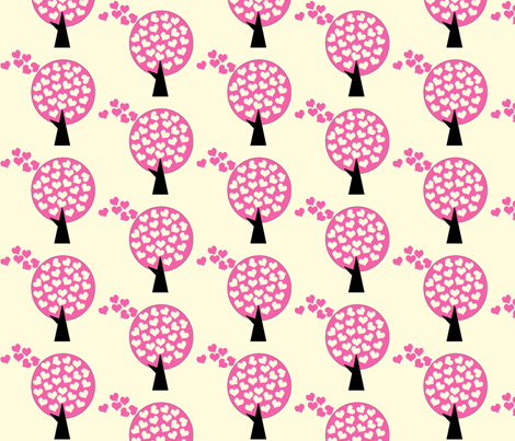 Love Tree fabric by anikabee on Spoonflower - custom fabric