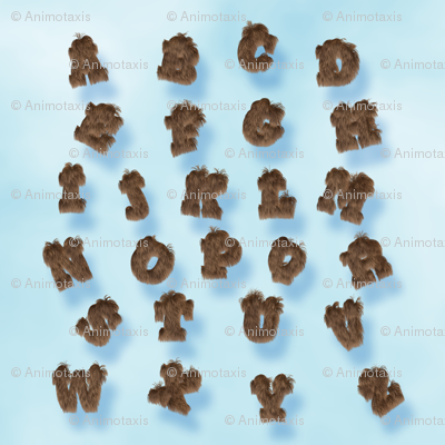 Rabbit Fur Alphabet