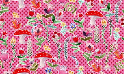 fleur des bois rose L