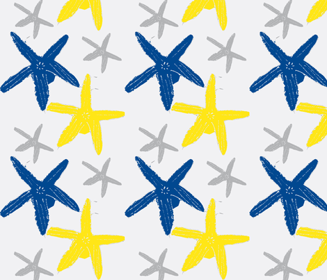 Sea Stars  fabric by fabricfarmer_by_jill_bull on Spoonflower - custom fabric