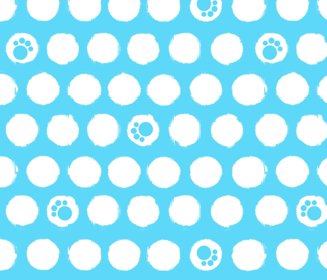 Paw Print Dots fabric by kiniart on Spoonflower - custom fabric