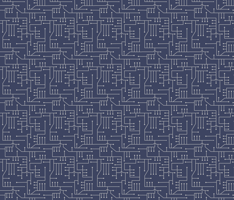 Circuits_in_blue_101 fabric by lowa84 on Spoonflower - custom fabric