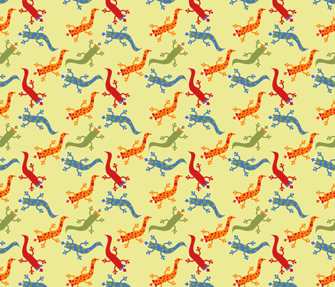 LaraGeorgine_Geckoed fabric by larageorgine on Spoonflower - custom fabric