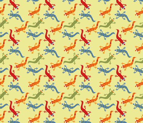 LaraGeorgine_Geckoed fabric by larageorgine on Spoonflower - custom fabric