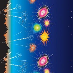 Summer Fireworks Border
