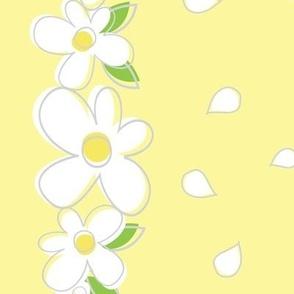 """Daisy Border - rotated, for 54"""" w fabrics"""