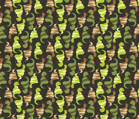 LaraGeorgine_Snakes fabric by larageorgine on Spoonflower - custom fabric