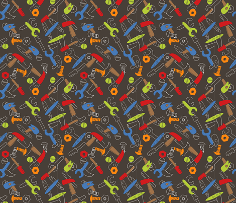 LaraGeorgine_Tools fabric by larageorgine on Spoonflower - custom fabric