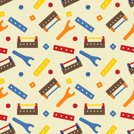 LaraGeorgine_ToolBox fabric by larageorgine on Spoonflower - custom fabric