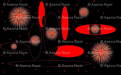 fire work in space