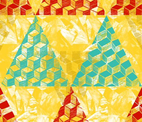 Peninsula Triangles fabric by jhacarlson on Spoonflower - custom fabric