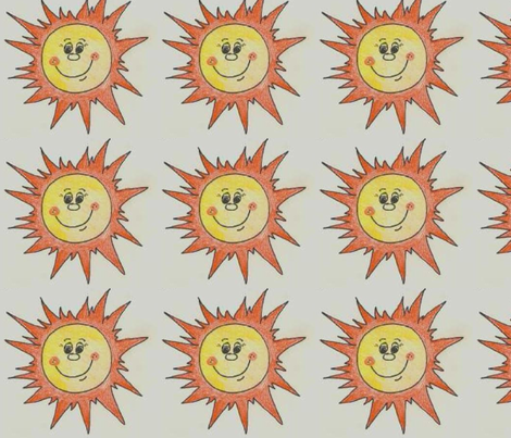 Sunshine Crayon fabric by annalisa222 on Spoonflower - custom fabric