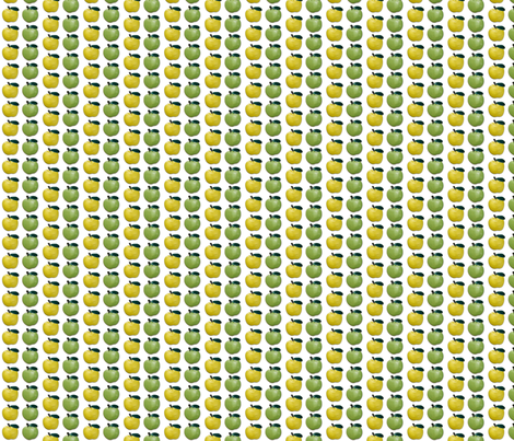 Green and Yellow Apples fabric by incomparable on Spoonflower - custom fabric
