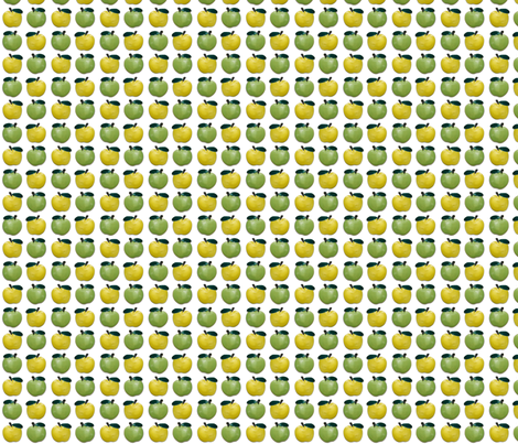 Green Apple-Yellow Apple fabric by incomparable on Spoonflower - custom fabric