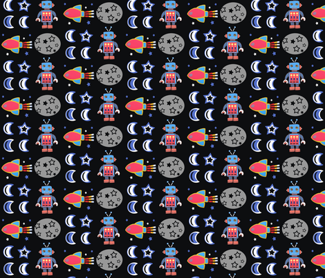 Robot Rock fabric by little_ladybird on Spoonflower - custom fabric