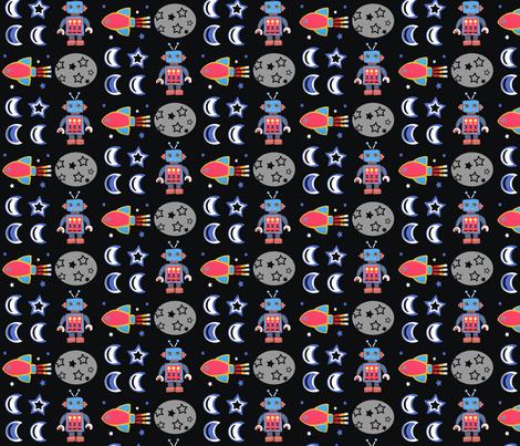 Robot Rock fabric by little_ladybird on Spoonflower - custom fabric