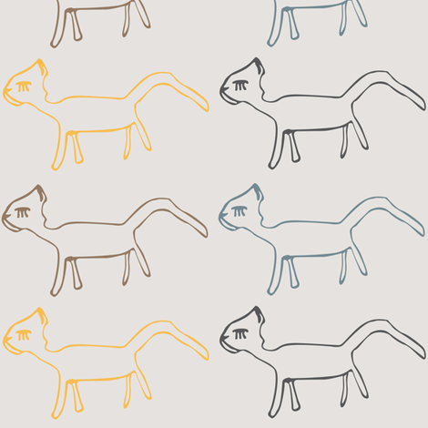 ugly cat fabric by surfacerender on Spoonflower - custom fabric