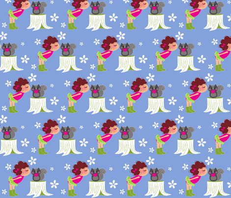 kiss fabric by malien00 on Spoonflower - custom fabric