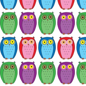 Bright Colored Owls