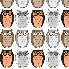 Classic Colored Owls