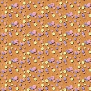 Buttons with Cork Background