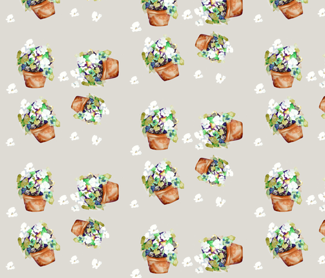 Petunias Petunias fabric by karenharveycox on Spoonflower - custom fabric
