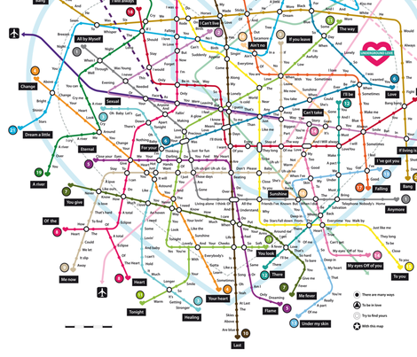 "Love map Big Scale (22x22"")"