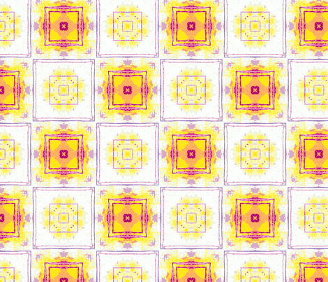 yellow tiles fabric by heikou on Spoonflower - custom fabric