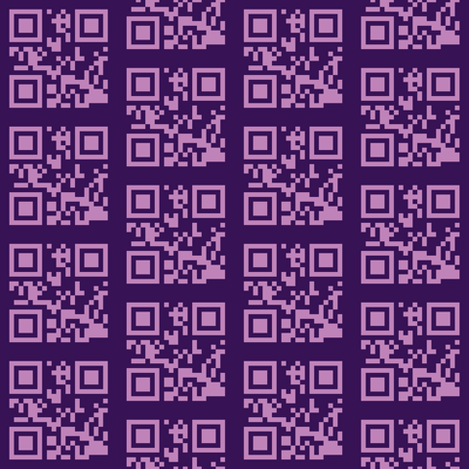 qrcode lavender fabric by heikou on Spoonflower - custom fabric