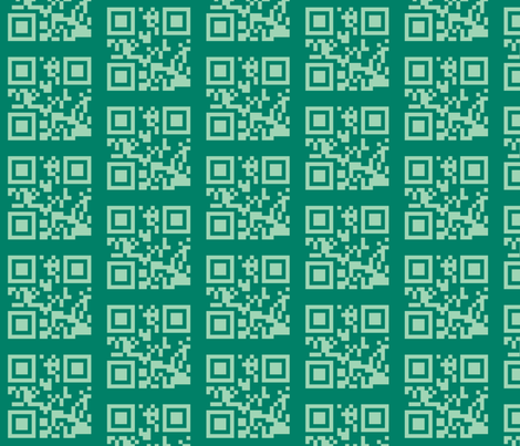 qrcode green fabric by heikou on Spoonflower - custom fabric