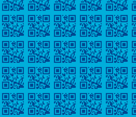 qrcode blue fabric by heikou on Spoonflower - custom fabric