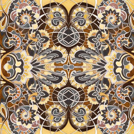 Sandy Garden fabric by edsel2084 on Spoonflower - custom fabric